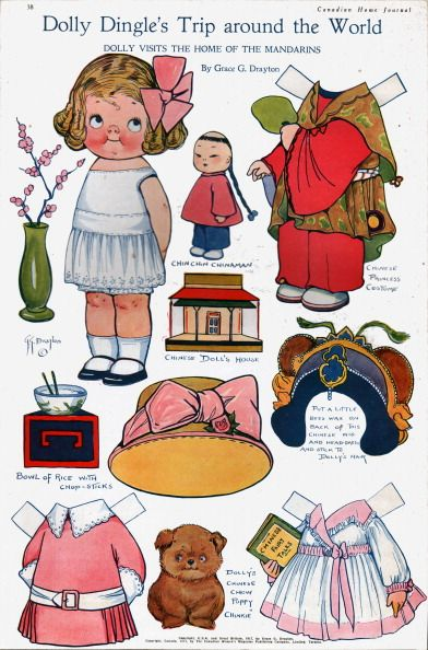 Dollly Dingle paper dolls, published December 1912, Toronto