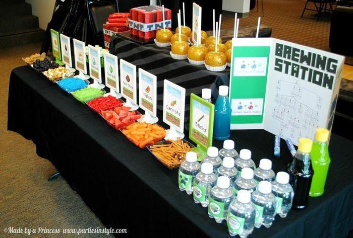 minecraft birthday supplies | Minecraft Birthday Party! Free printables! Decorations, supplies, cake ...
