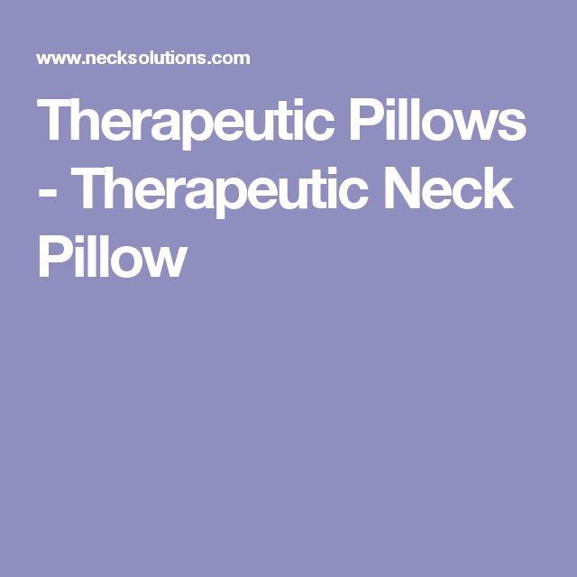 therapeutic pillows therapeutic neck pillow