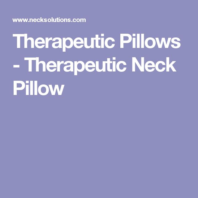 therapeutic pillows therapeutic neck pillow