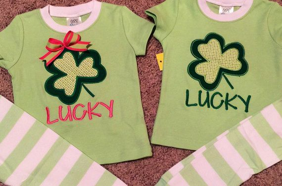 Lucky St. Patrick's Day pajamas are well-made and stitched to last. High-quality embroidery and applique mean you will enjoy these PJs long beyond the holiday. 100% cotton. Sizes 0-3 mo sleep sack up to youth 12.