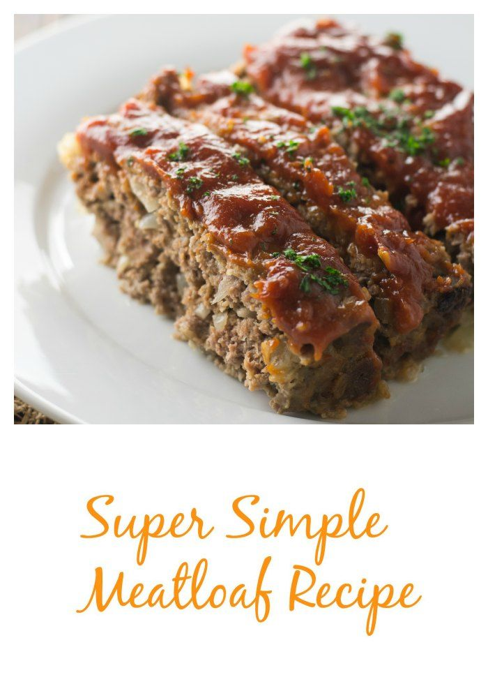 "A super simple and absolutely delicious meatloaf recipe. The sauce has one ""secret"" ingredient that makes it over-the-top...and your kitchen will smell AMAZING!"