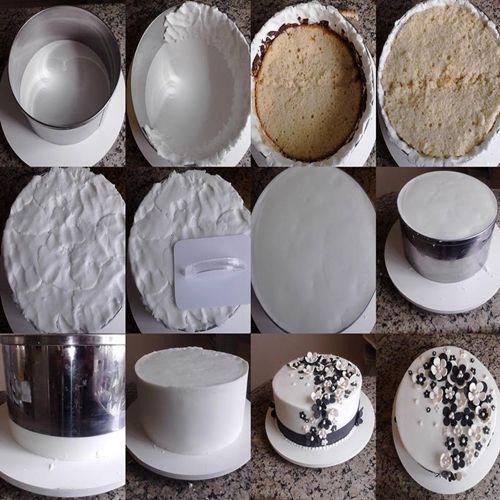 Técnica de montagem no aro com glacê mármore - Bolos, Doces e Cupcakes