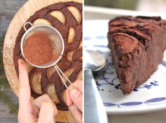 žít vege: čokoládový dort z cizrny