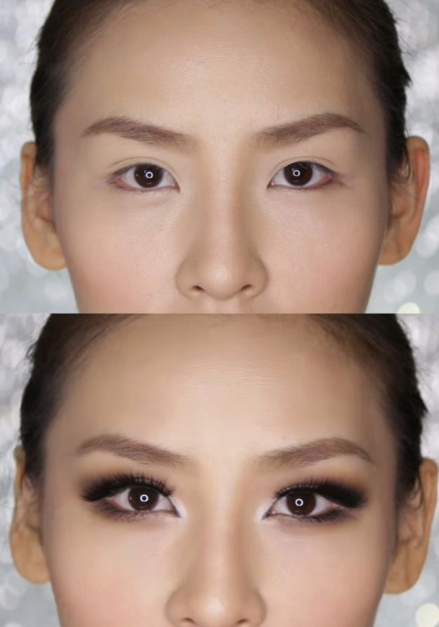 Makeup Tips For Asian Women - Smokey Eye Makeup for Hooded or Asian Eyes- Simple Step By Step Tutorial and Guides for Everyday Beauty Looks - Natural Monolid Guides with Before And After Looks - Best Products for Contouring and Hooded Eye Looks, Looks for Prom or the Wedding and Tips for Cute and Dramatic Korean Styles - thegoddess.com/makeup-tips-asian-women