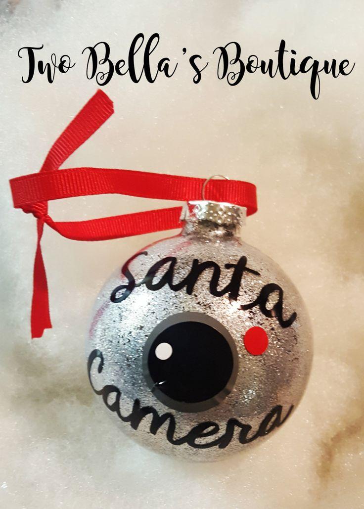Santa Camera Ornament, Santa Camera, Santa Cam, Kids Ornament, Funny Christmas Ornament, Christmas Ornament, Santa Ornament, Christmas Decor by TwoBellasBoutique on Etsy