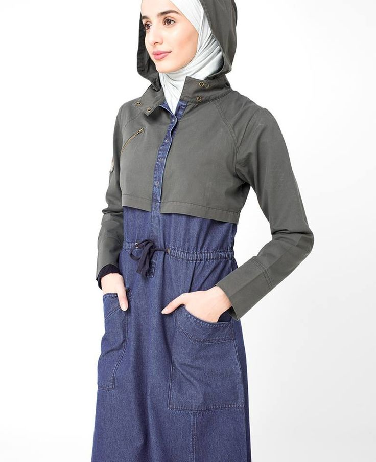 Hooded Denim Jilbab | SilkRoute | My Online Souk | www.myonlinesouk.co.za