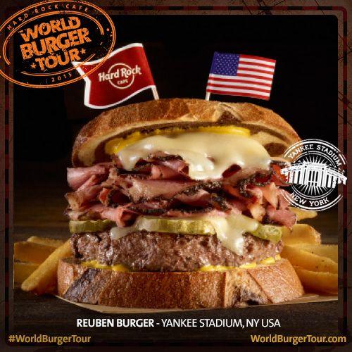 Reuben #Burger #YankeeStadium #NY #WorldBugerTour
