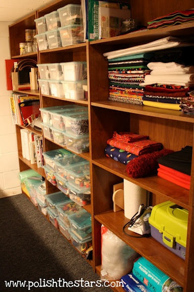 From Basement Storage Room to Craft Room