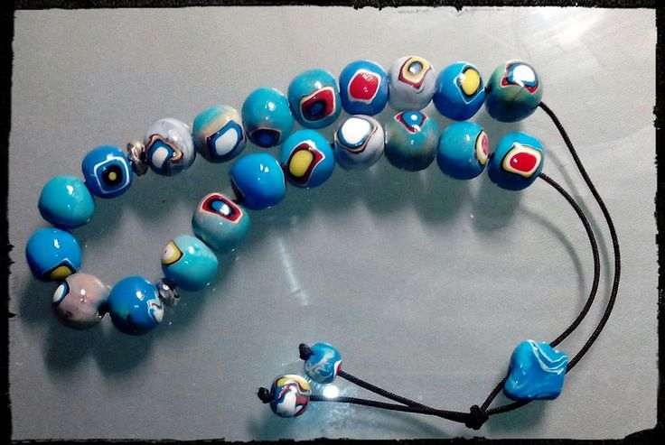 Rosary from polymer clay.