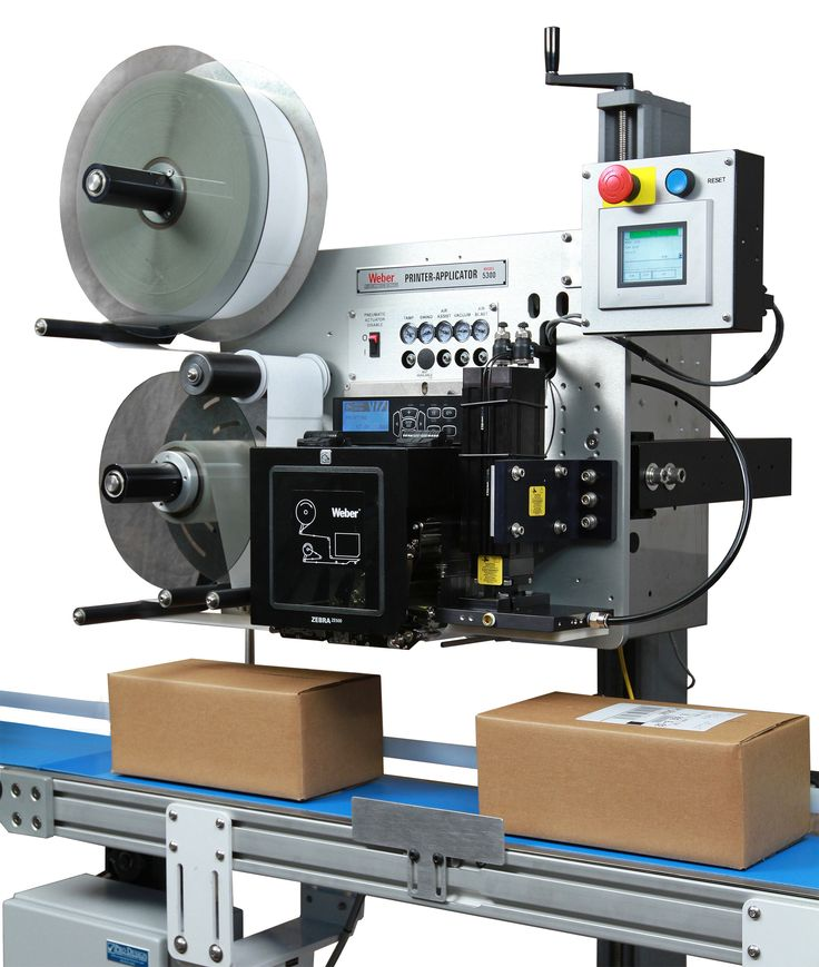 Weber's Model 5300 label printer applicator is a heavy