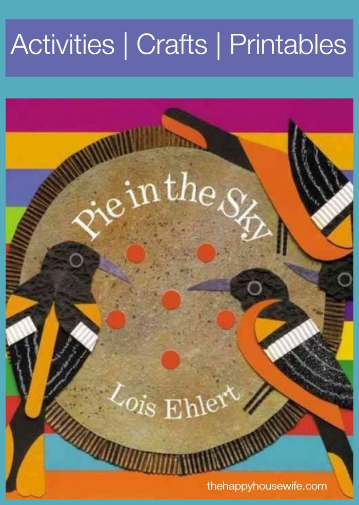 31 Days of Read-Alouds: Pie in the Sky ~ Lois Ehlert is one of my favorite authors. I absolutely love the illustrations in her books. | The Happy Housewife