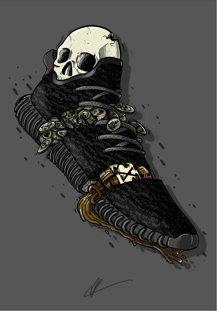 "Sneaker Art - Kanye - Yeezy 350 ""Pirate Black"""