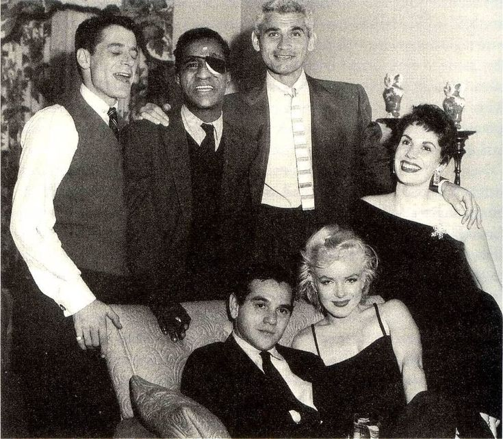 Milton & Marilyn in the chair, Sammy Davis Jr at Sammy's party