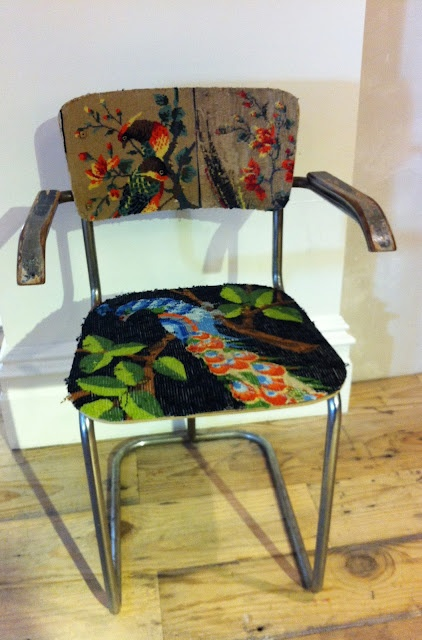 Tapestry retro chair