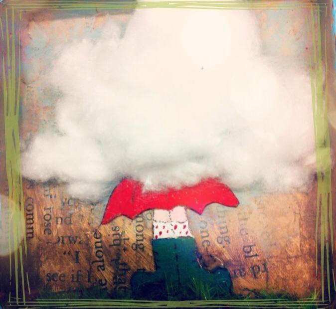 """Dettaglio di """"Mood Box""""...con la testa tra le nuvole!!"""
