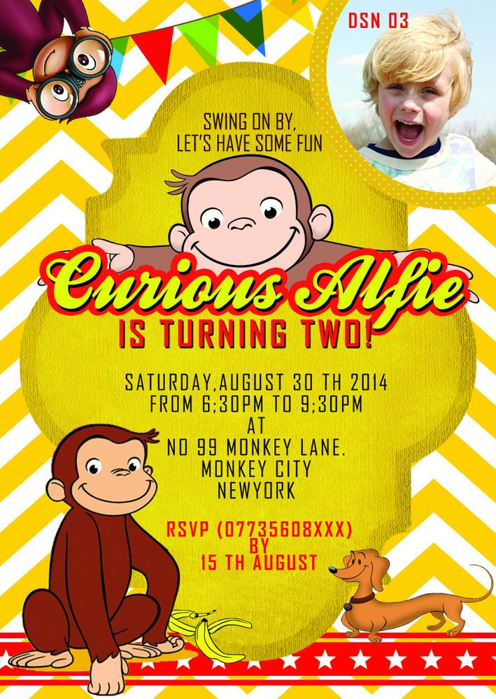 the 25+ best curious george invitations ideas on pinterest, Party invitations