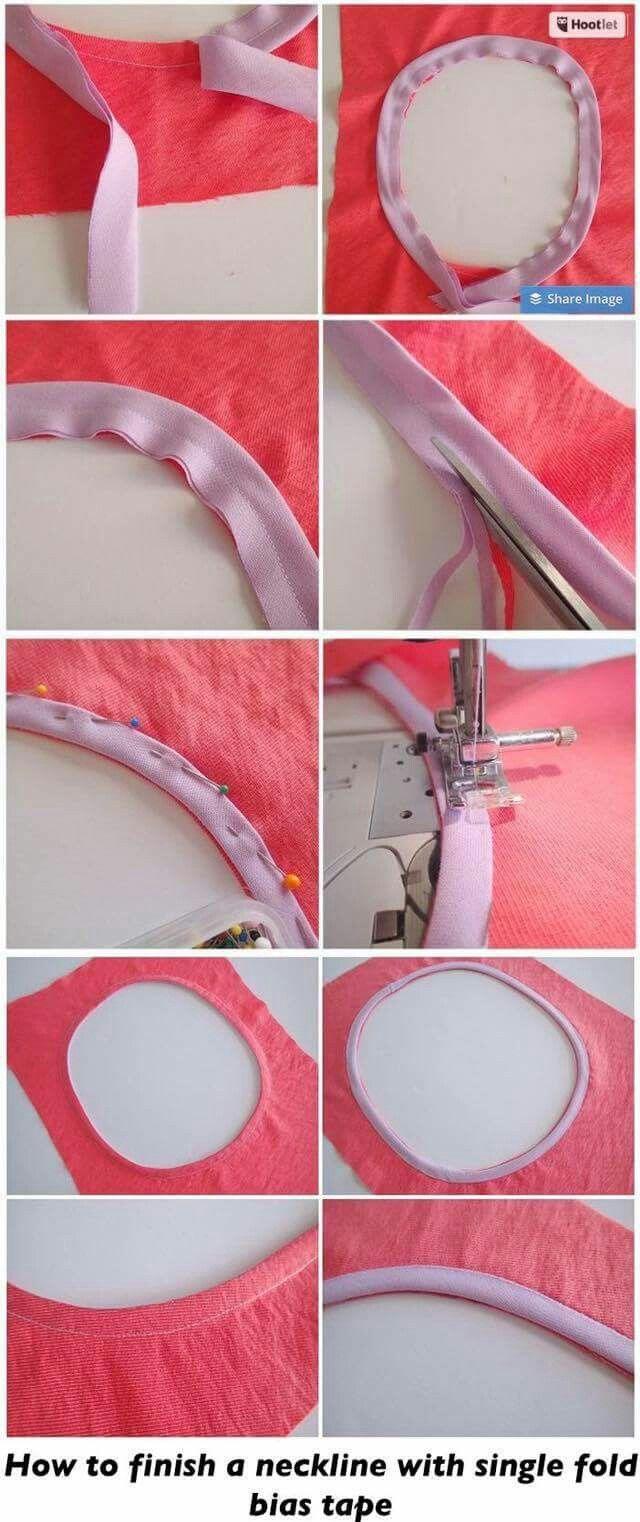 Single fold biais neckline