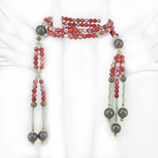 Hand-Crafted SGI Nichiren Buddhist Prayer Beads Juzu NMRK - Lotus Lion Design