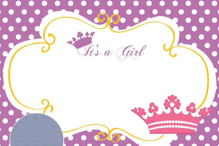 Nice Princess Themed Baby Shower Ideas and Invitation - FREE Printables!