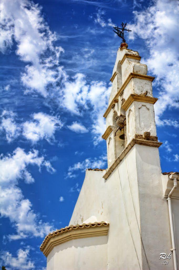 The spire at Ypapanti Church (Gouvia) Corfu