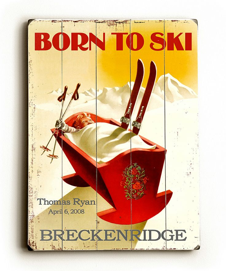'Born to Ski Personalized Wall Art