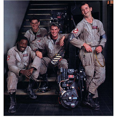 Ghostbusters (1984) (8 inch by 10 inch) PHOTOGRAPH Male Cast Full Body on Staircase kn @ niftywarehouse.com #NiftyWarehouse #Ghostbusters #Movie #Ghosts #Movies #Film