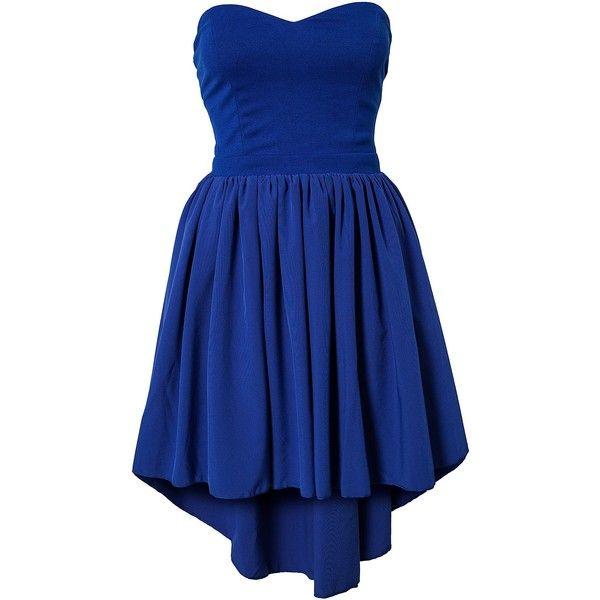 Paprika Dip Hem Open Back Dress ($62) ❤ liked on Polyvore