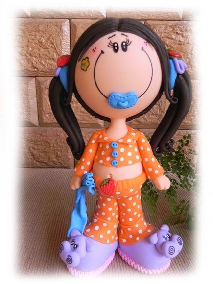 Fofucha Doll en Biscuit | Vanessa Assis | 3922FD - Elo7
