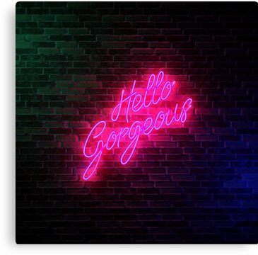 Hello Gorgeous Neon Sign Light Popular Trending