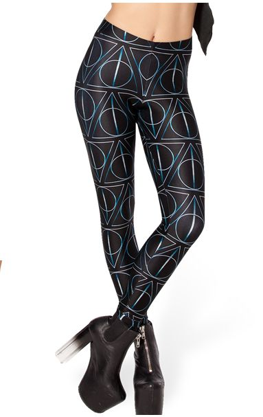 Deathly Hallows Print Leggings //Price: $14.49 & FREE Shipping // #hermionegranger #dumbledore #malfoy #jamespotter #voldemort