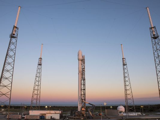SpaceX Falcon 9 launched successfully this evening and delivered a satellite into orbit.