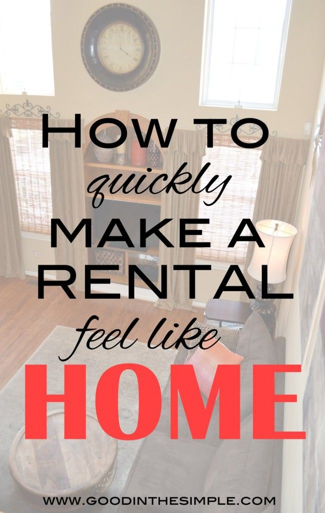 After living in 7 rentals over the past 15 years, I've learned some great tips for making an apartment or rental house feel like home quickly.