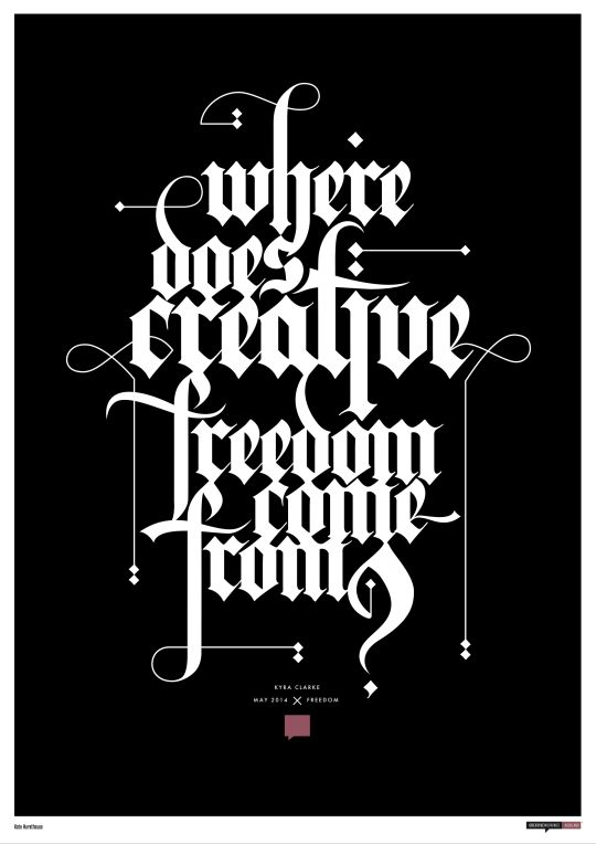 """""""Where does creative freedom come from?"""" by Kate Hursthouse"""
