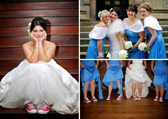 Bride wearing converse | Posh wedding
