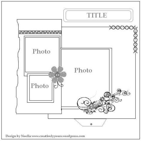 Extrêmement 344 best Scrapbook Sketches - 3 pics images on Pinterest  CO05