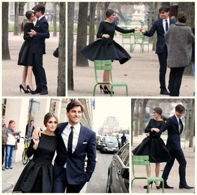 both their outfits make this cute moment even better!: Engagement Pictures, Future Engagement, Engagement Photo Shooting, Couple Maternity, In Styles, Engagement Pics, Olivia Palermo, Little Black Dresses, Engagement Shooting