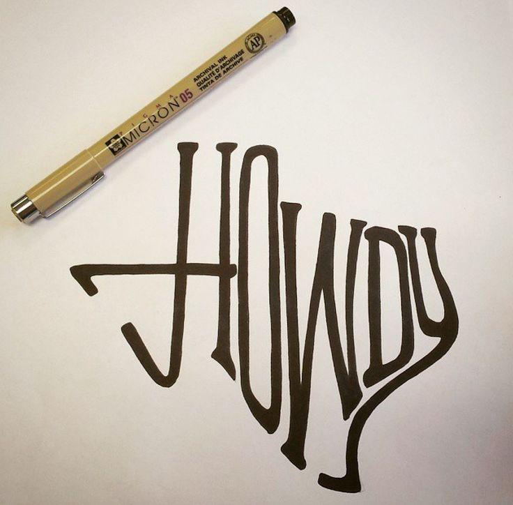 Howdy, TX - Original Drawing - Jeb Matulich