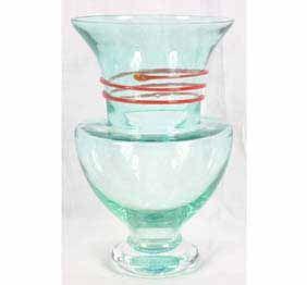 Kosta Boda art glass snake vase By Monica Backström