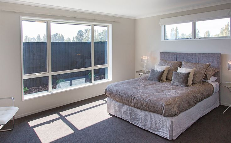 Lots of light in this room with large windows.