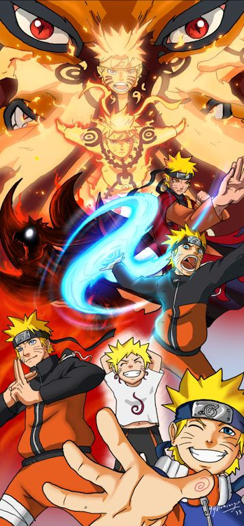 Naruto Evolution of a Hero! So cheeky at the bottom but so awesome