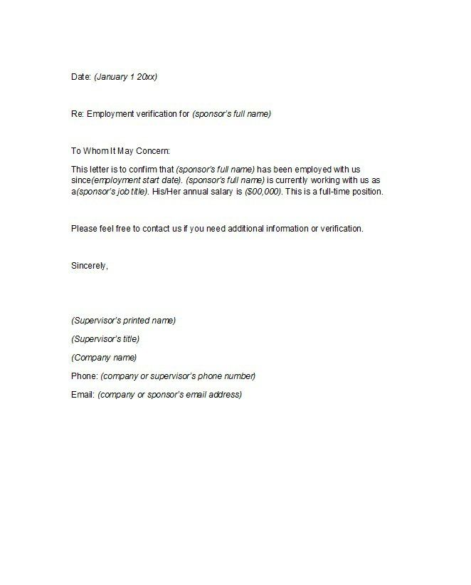 Proof of employment letter 15
