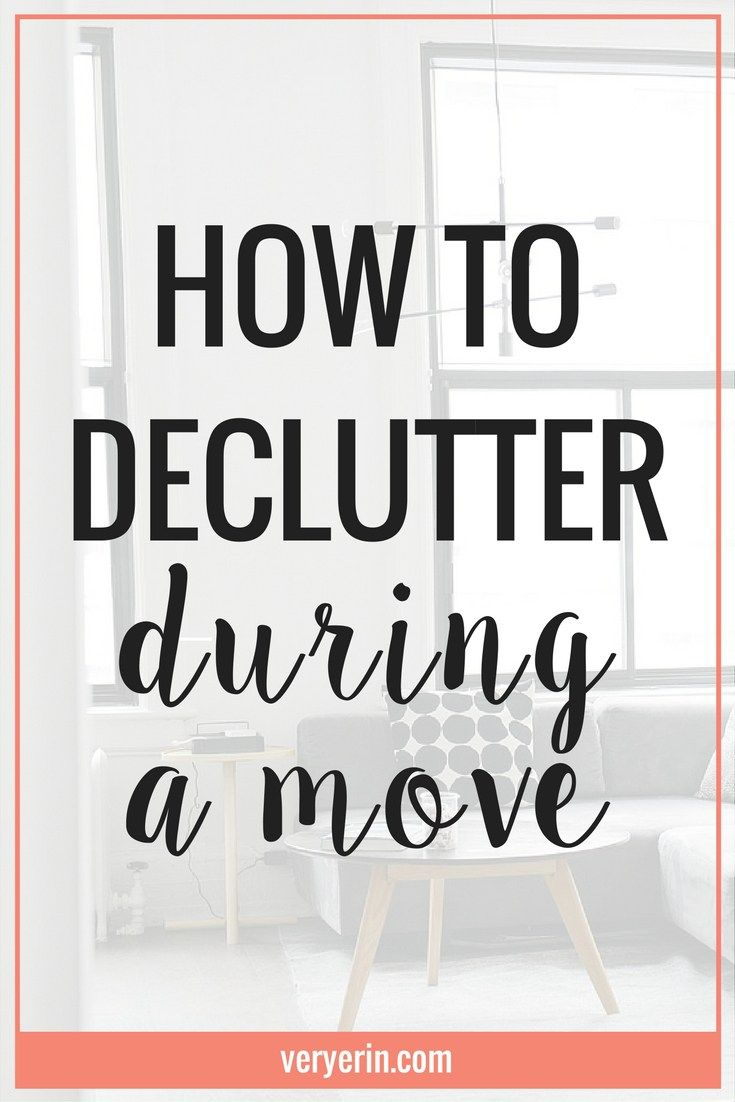 How to Declutter During a Move | Though many of us strive for minimalism, decluttering can be overwheming. In this blog post I'm sharing how I used our latest move as an opportunity to effectively declutter home. Click through to read the post! - Very Erin Blog