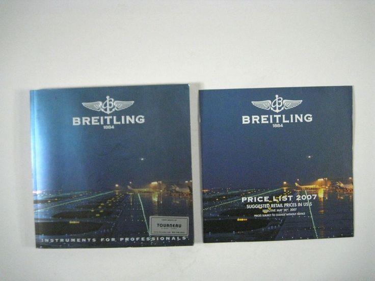 Breitling 1884 Watch Catalog ONLY Professionals Chronolog 07 Wristwatch 2006 #Breitling