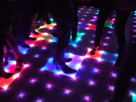DIY Interactive Dance Floor...a little pricey and technical, but if you have money and throw a lot of parties this might be a good idea!