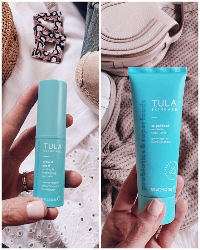 tula skincare eye balm brightening exfoliator | my style