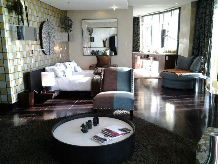 Main bedroom in the penthouse suite, Michaelangelo Hotel, Sandton.
