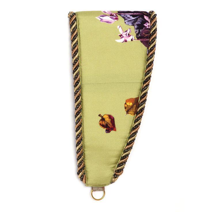 Anna Dempsey Designs Tie Backs - Cyclamen in Pistachio