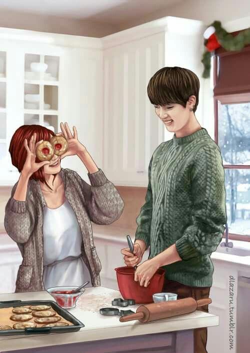 Jin and (Y/N)