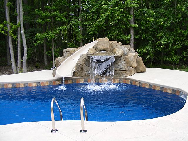 Pool Water Feature Ideas decorative water fountain ave designs pools pinterest raised arched limestone wall with sconces and waterfall westlake texas Pool Water Features Swimming Pool Water Feature Photos